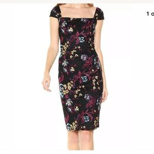 NWT Nicole Miller floral embroidered dress
